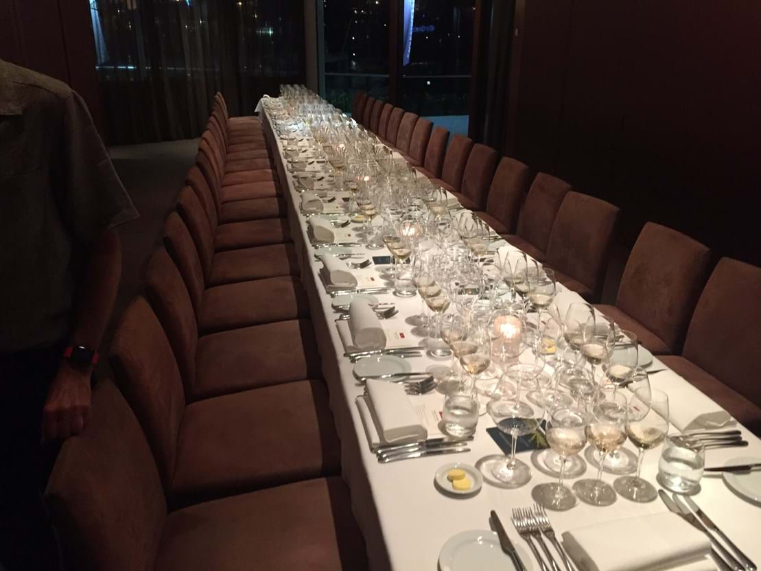 Private Dining Room at Aria Brisbane, set to host the Oregon Winemaker's Dinner, March 2016.