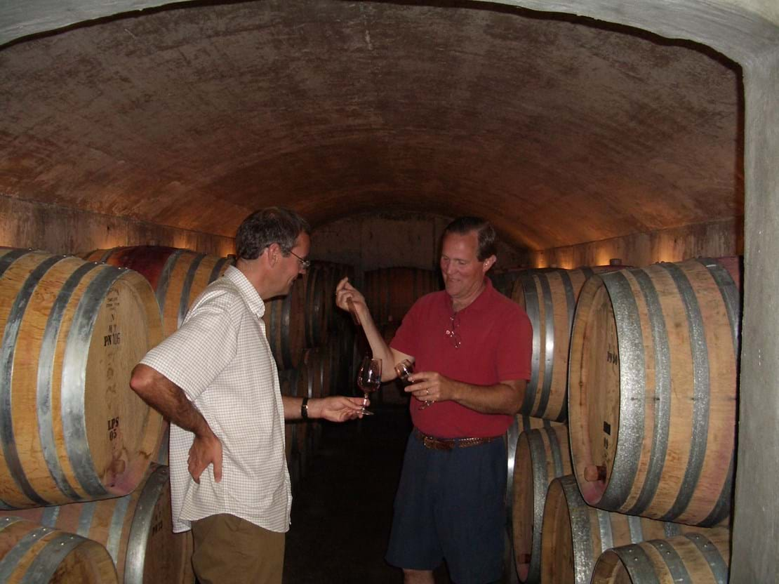 Steven with founding owner/winemaker Russ Raney, in 2006